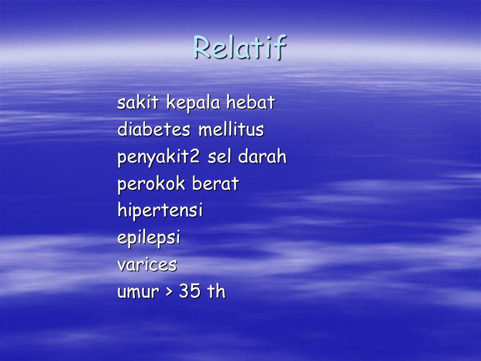 Relatif sakit kepala hebat diabetes mellitus penyakit2 sel darah