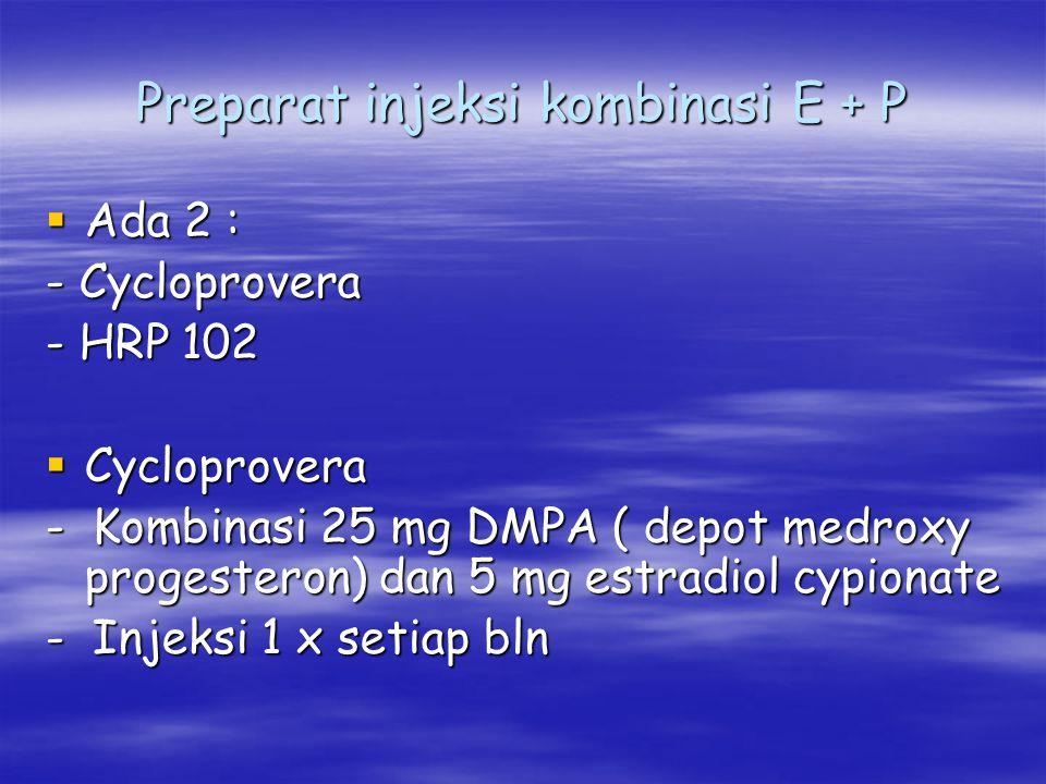 Preparat injeksi kombinasi E + P