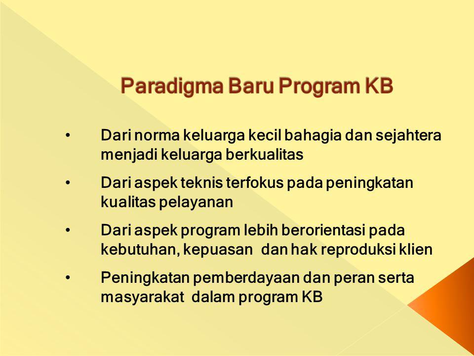 Paradigma Baru Program KB