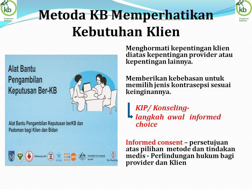 Metoda KB Memperhatikan Kebutuhan Klien