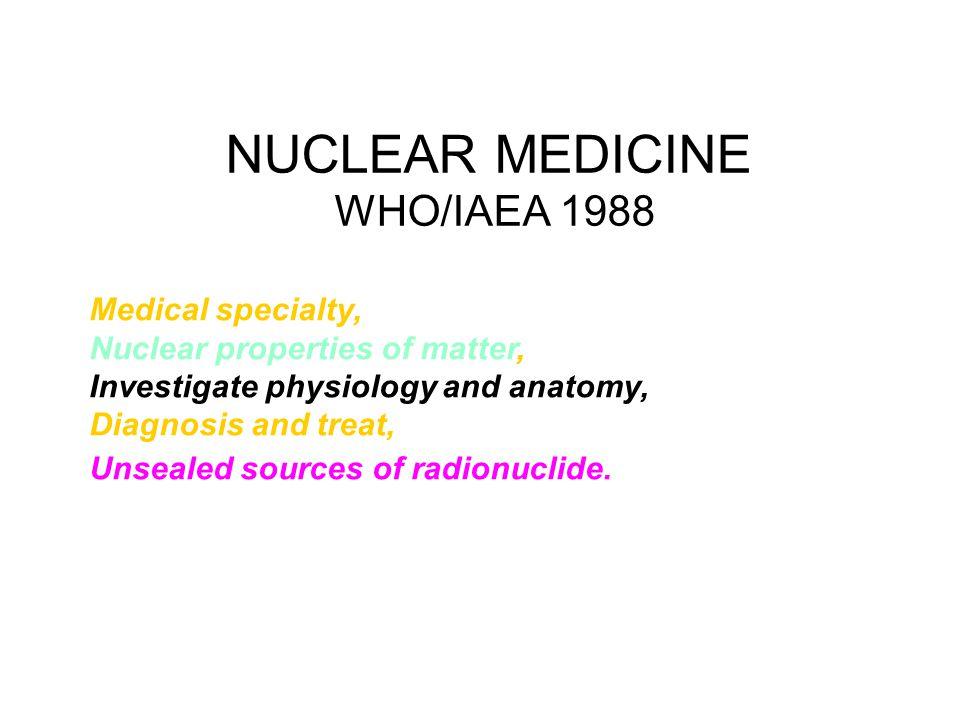 NUCLEAR MEDICINE WHO/IAEA 1988