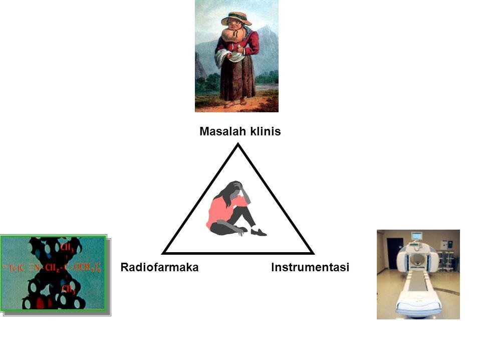 Masalah klinis Radiofarmaka Instrumentasi
