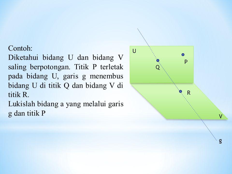 Lukislah bidang a yang melalui garis g dan titik P