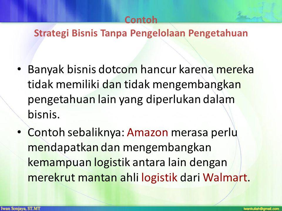Contoh Strategi Bisnis Tanpa Pengelolaan Pengetahuan