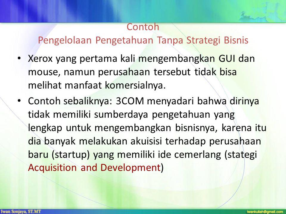 Contoh Pengelolaan Pengetahuan Tanpa Strategi Bisnis