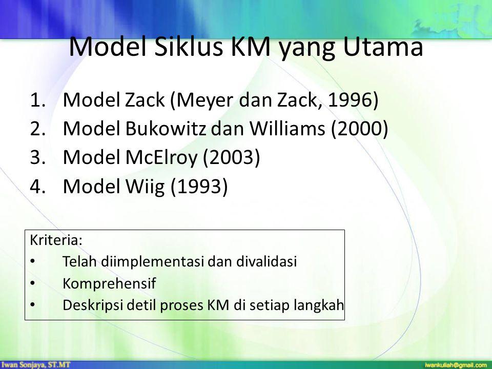 Model Siklus KM yang Utama