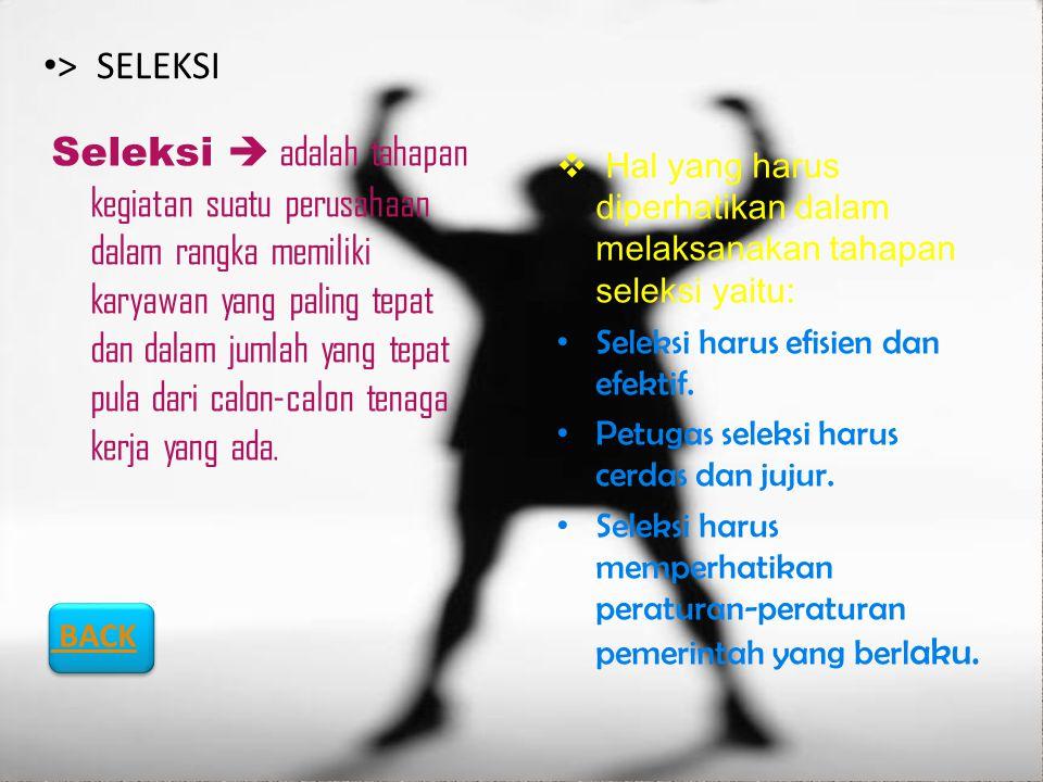 > SELEKSI