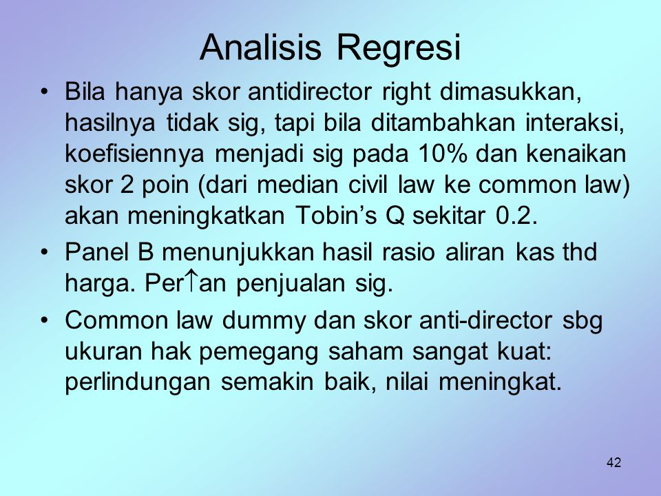 Analisis Regresi