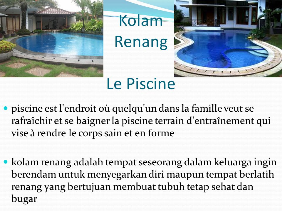 Kolam Renang Le Piscine