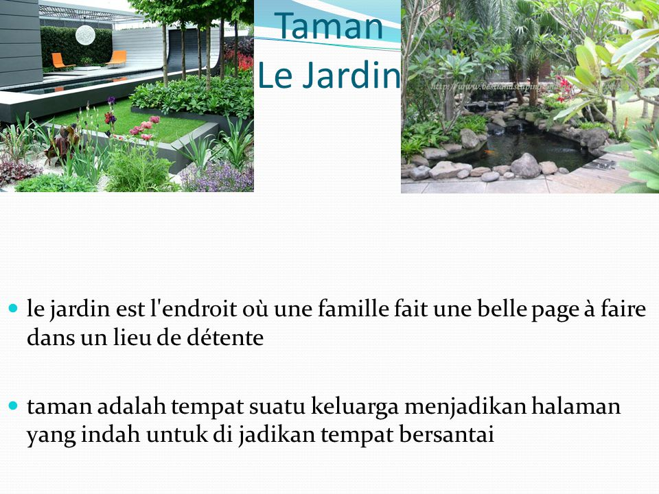 Taman Le Jardin le jardin est l endroit où une famille fait une belle page à faire dans un lieu de détente.