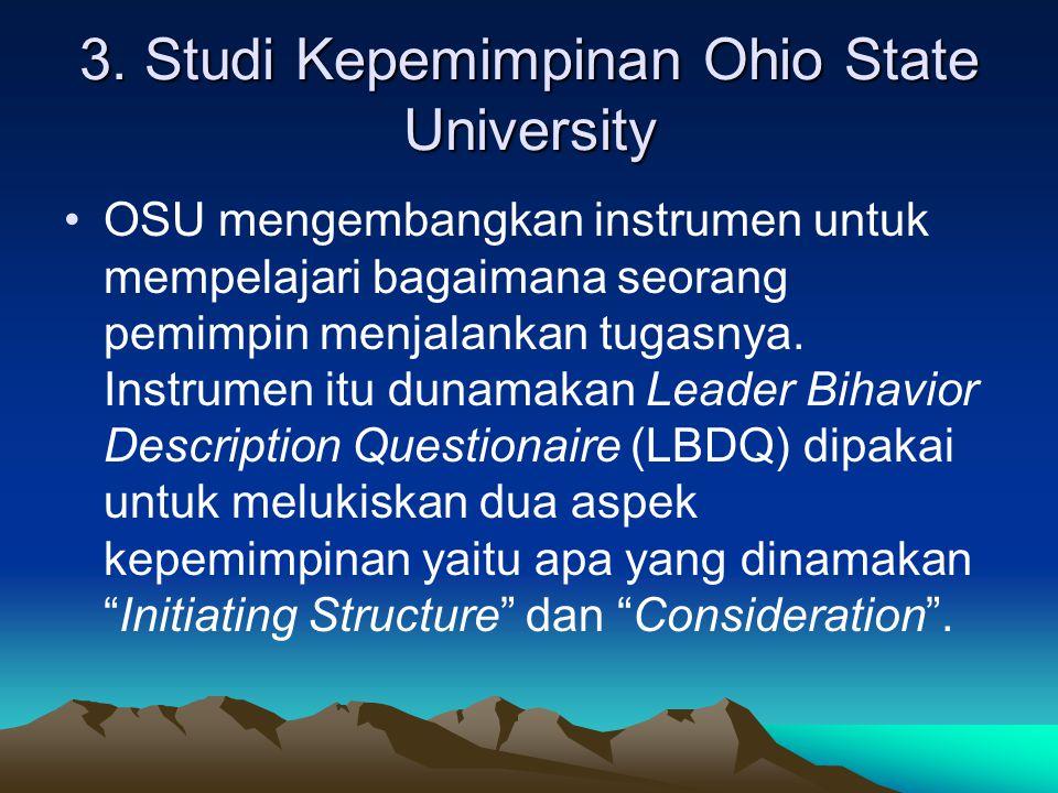 3. Studi Kepemimpinan Ohio State University