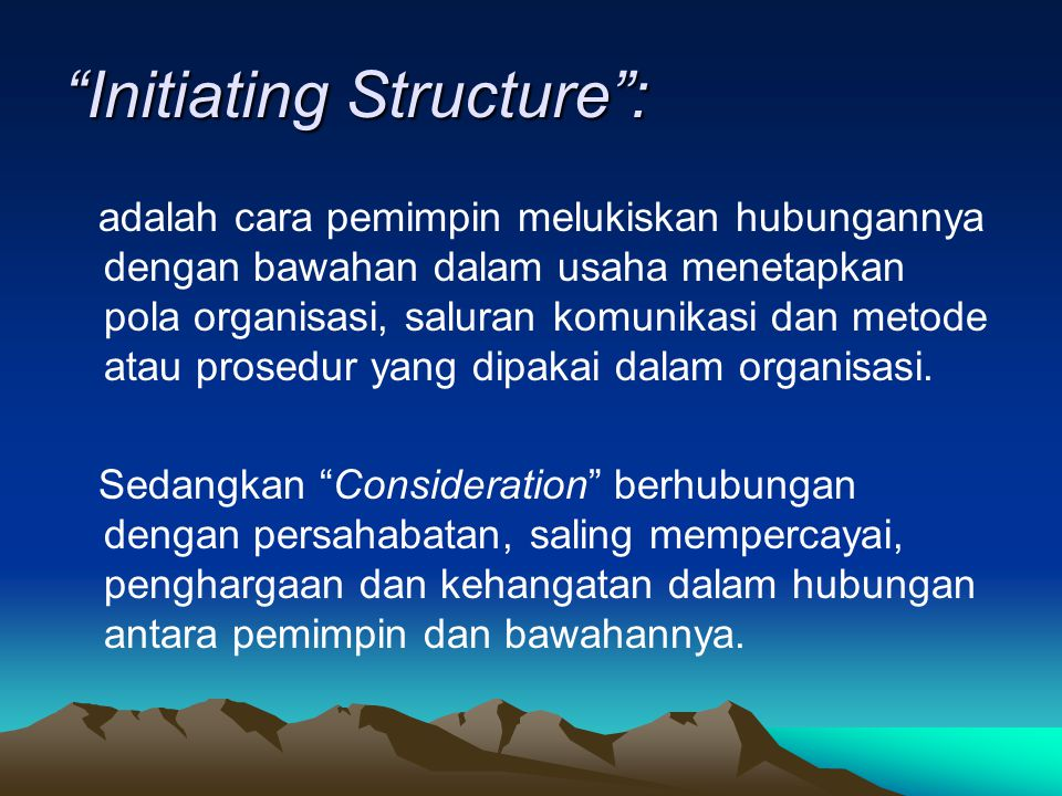 Initiating Structure :