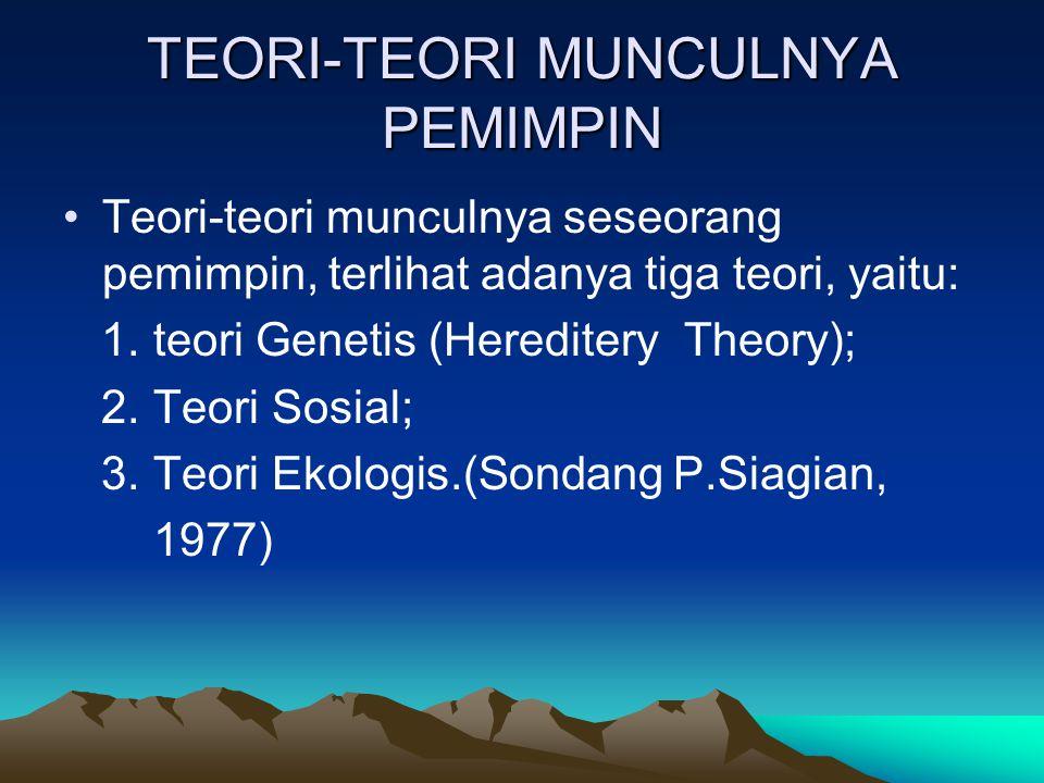 TEORI-TEORI MUNCULNYA PEMIMPIN