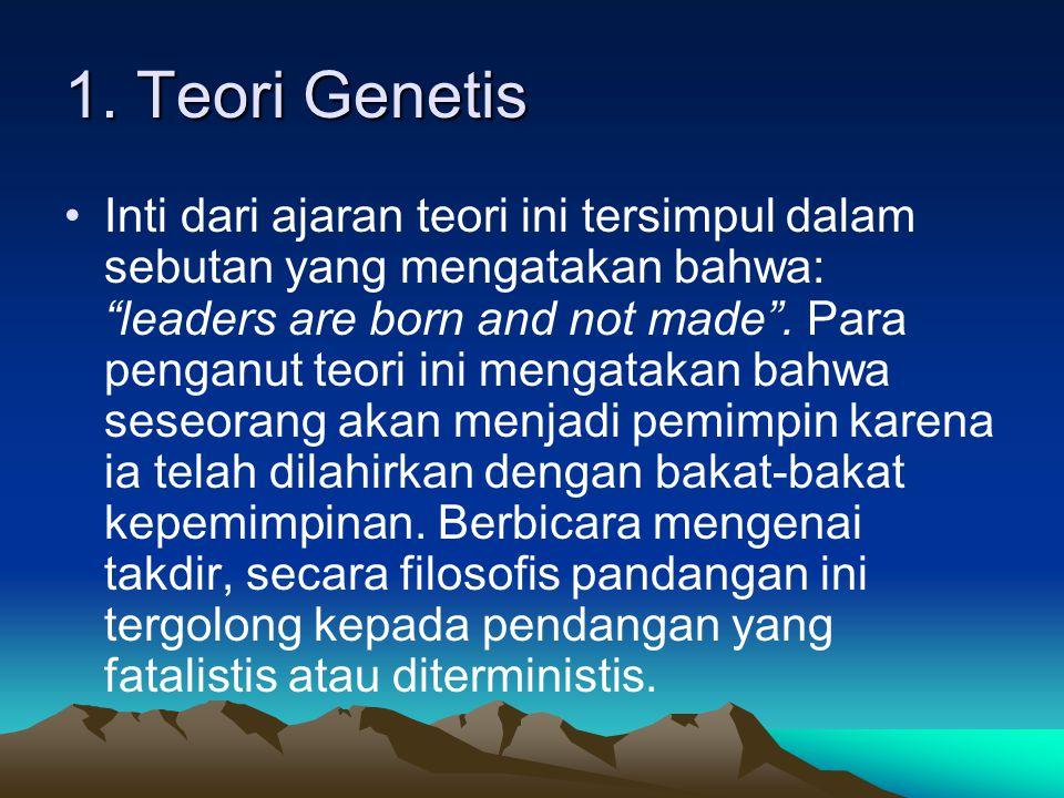1. Teori Genetis