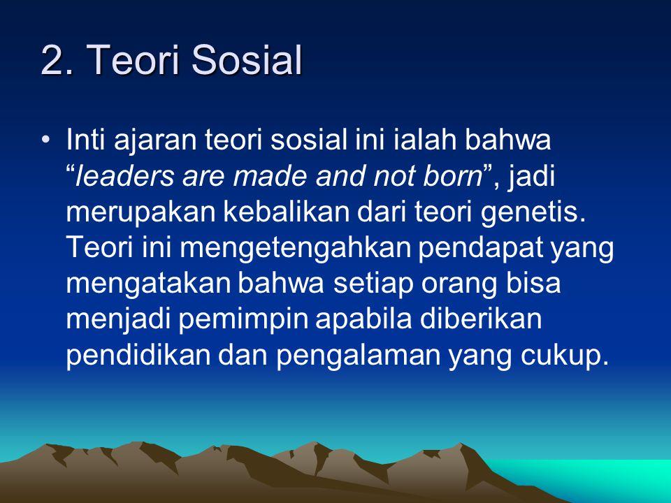 2. Teori Sosial