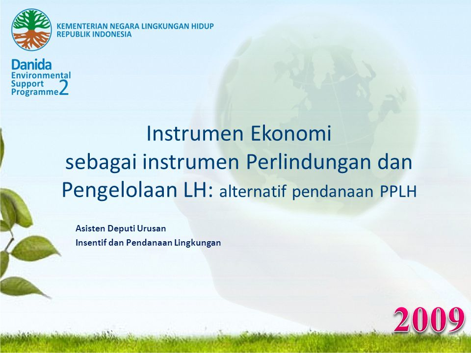 Asisten Deputi Urusan Insentif dan Pendanaan Lingkungan