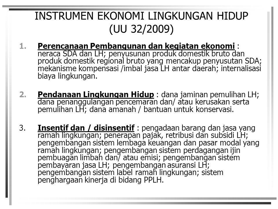 INSTRUMEN EKONOMI LINGKUNGAN HIDUP (UU 32/2009)