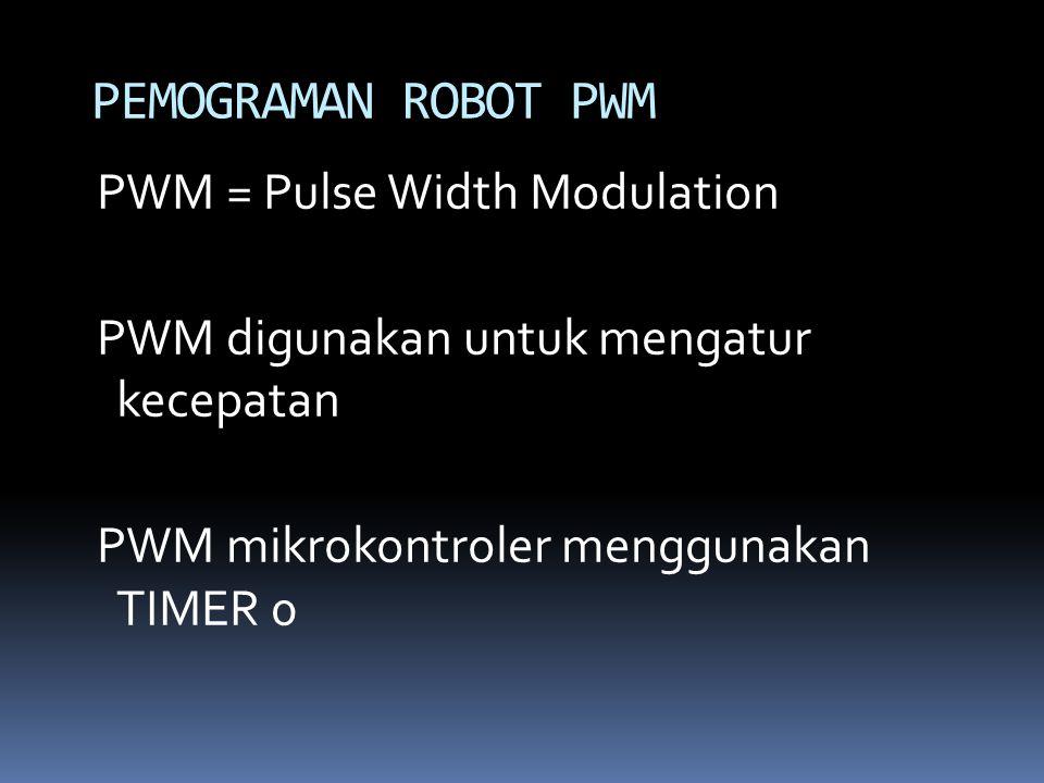 PEMOGRAMAN ROBOT PWM PWM = Pulse Width Modulation