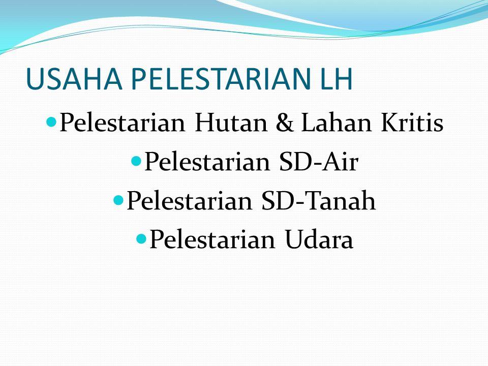 Pelestarian Hutan & Lahan Kritis