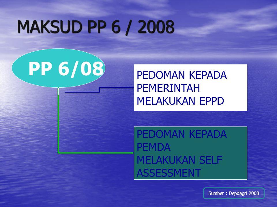 PP 6/08 MAKSUD PP 6 / 2008 PEDOMAN KEPADA PEMERINTAH MELAKUKAN EPPD