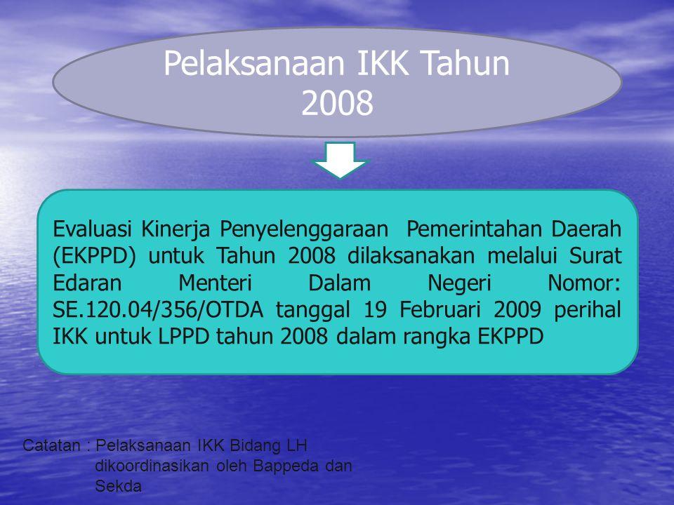 Pelaksanaan IKK Tahun 2008
