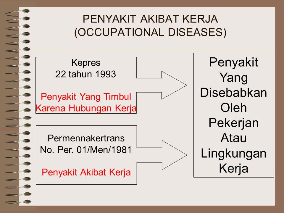 PENYAKIT AKIBAT KERJA (OCCUPATIONAL DISEASES)