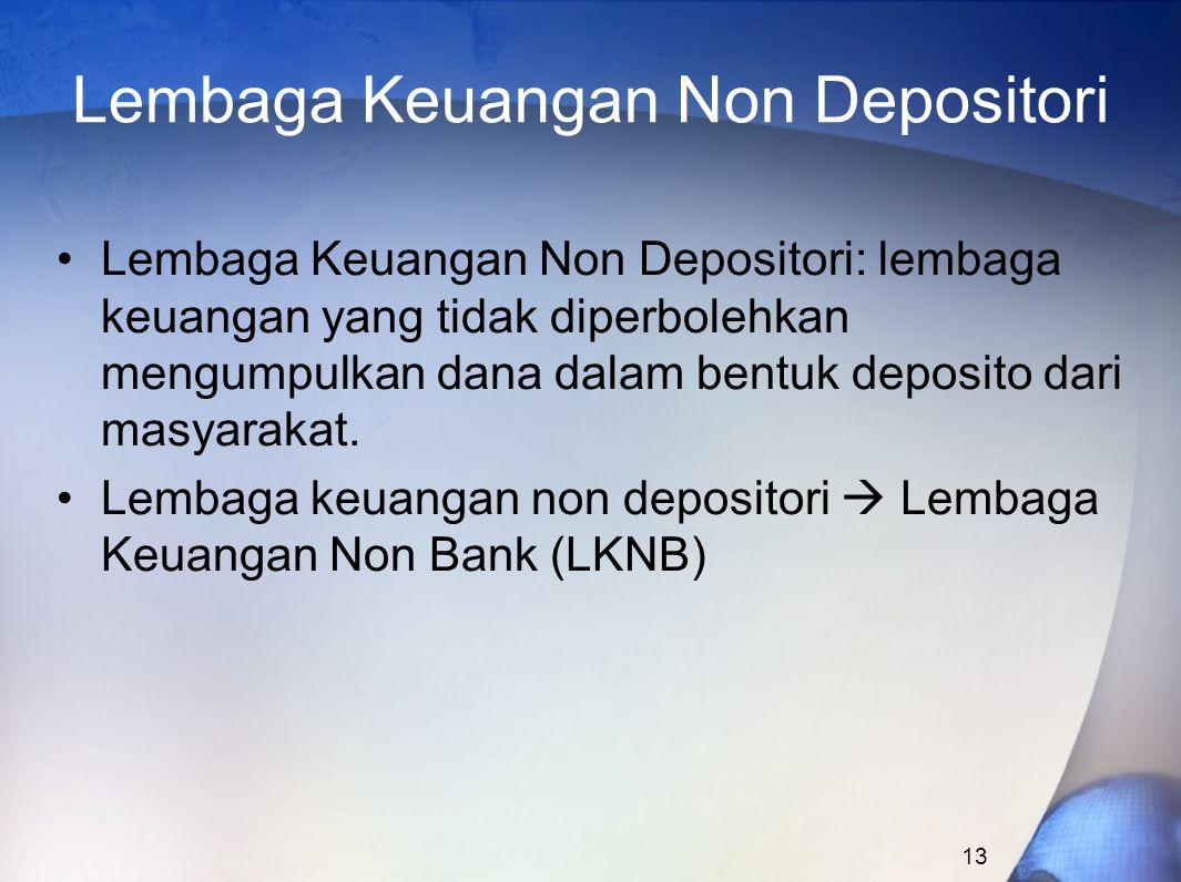 Lembaga Keuangan Non Depositori