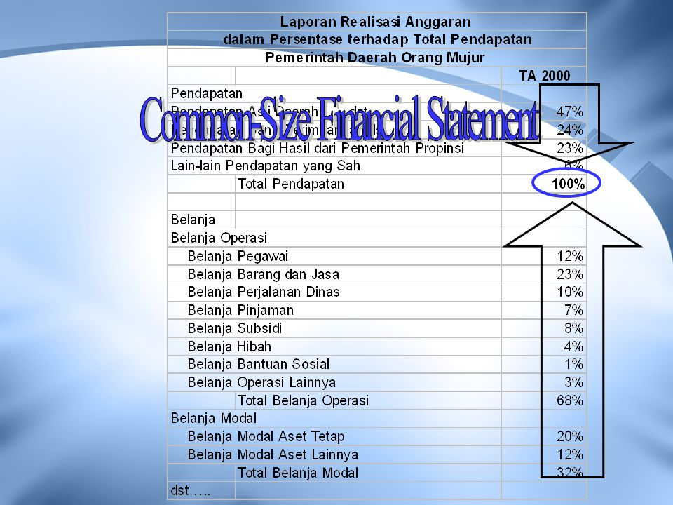 Common-Size Financial Statement