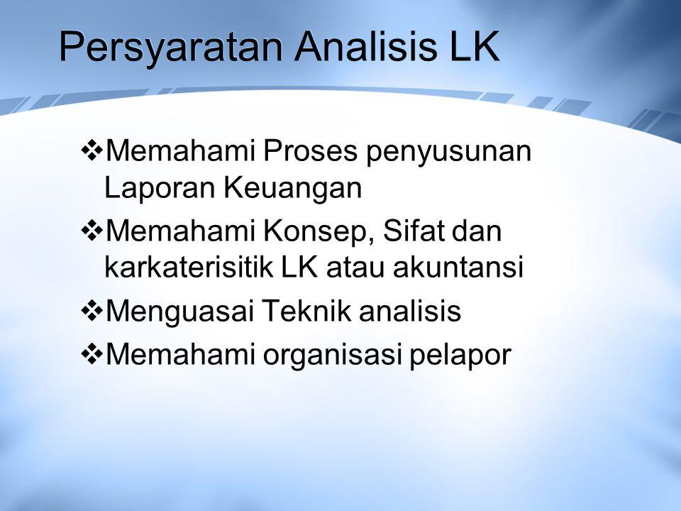Persyaratan Analisis LK