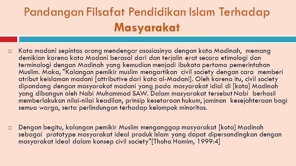 Pandangan Filsafat Pendidikan Islam Terhadap Masyarakat