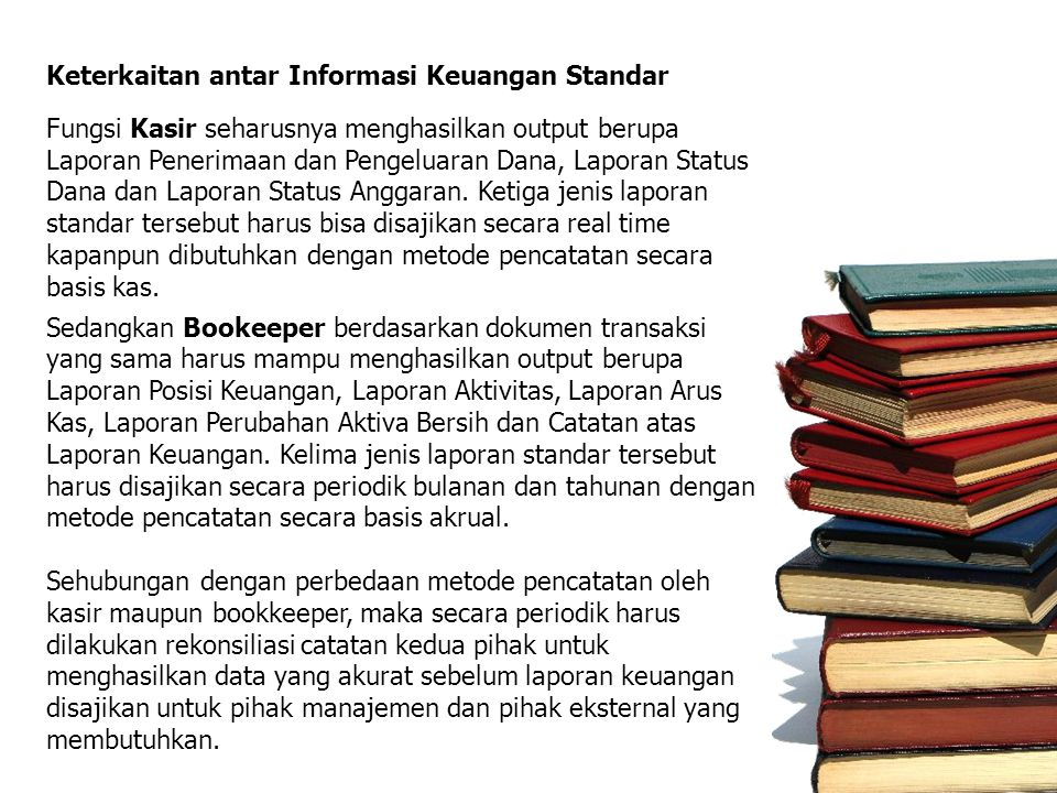 Keterkaitan antar Informasi Keuangan Standar