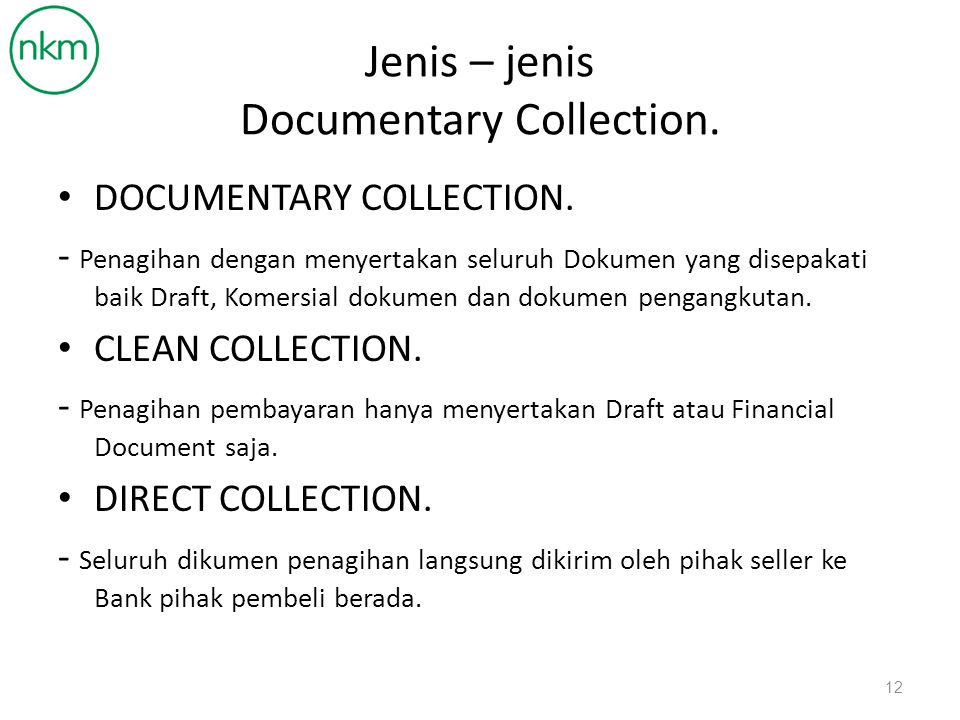 Jenis – jenis Documentary Collection.