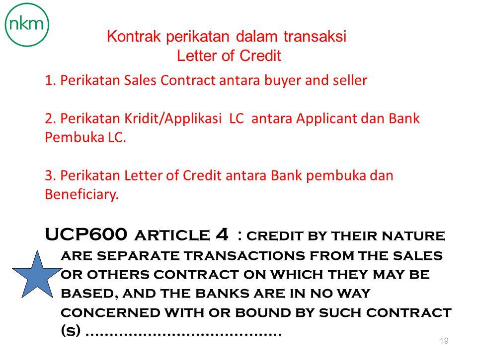 Kontrak perikatan dalam transaksi
