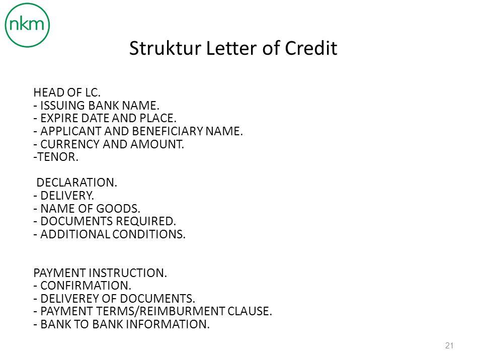 Struktur Letter of Credit