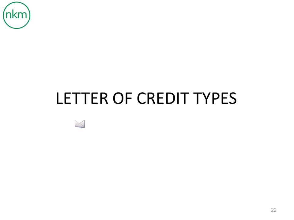 LETTER OF CREDIT TYPES