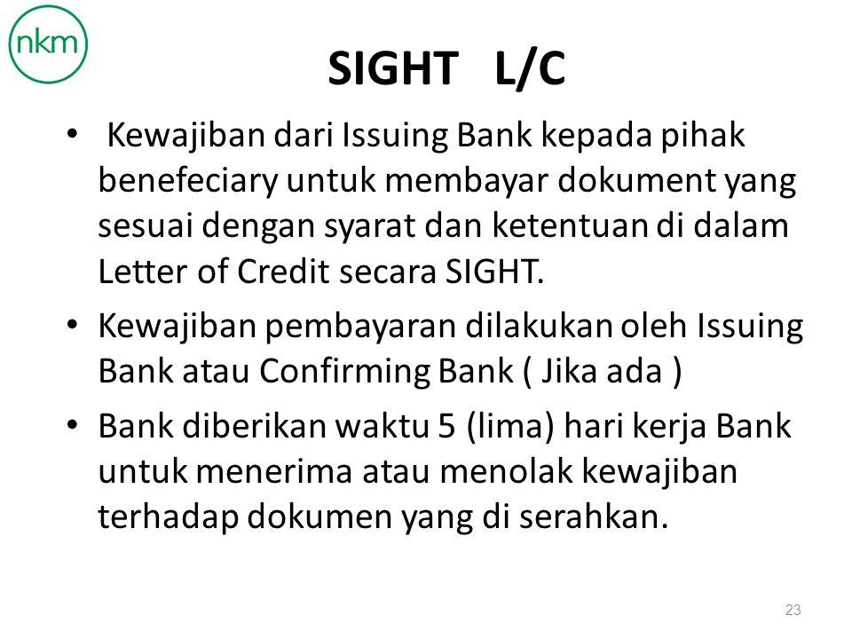 SIGHT L/C