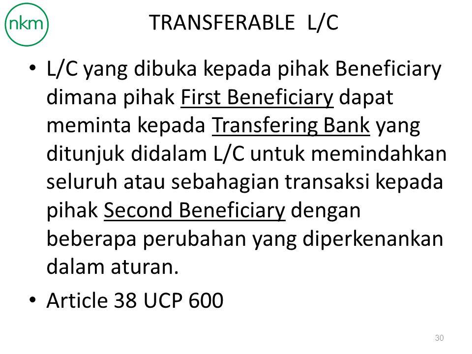TRANSFERABLE L/C