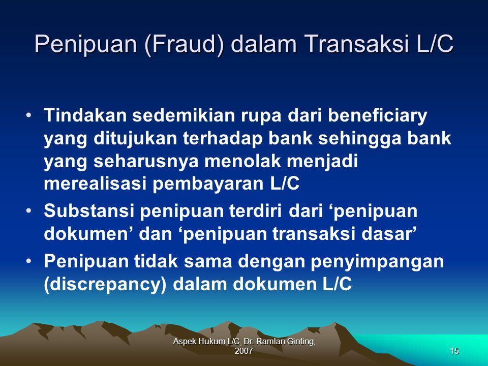 Penipuan (Fraud) dalam Transaksi L/C