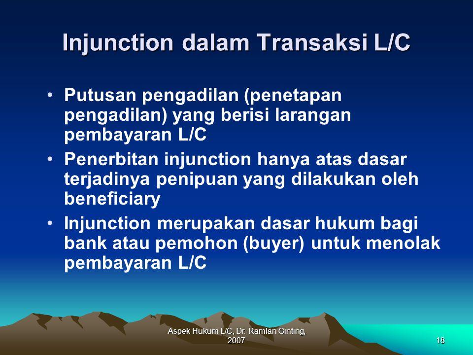 Injunction dalam Transaksi L/C