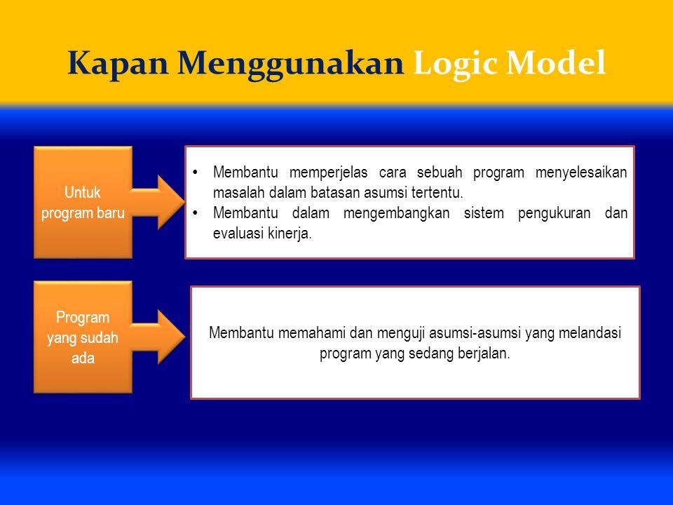 Kapan Menggunakan Logic Model