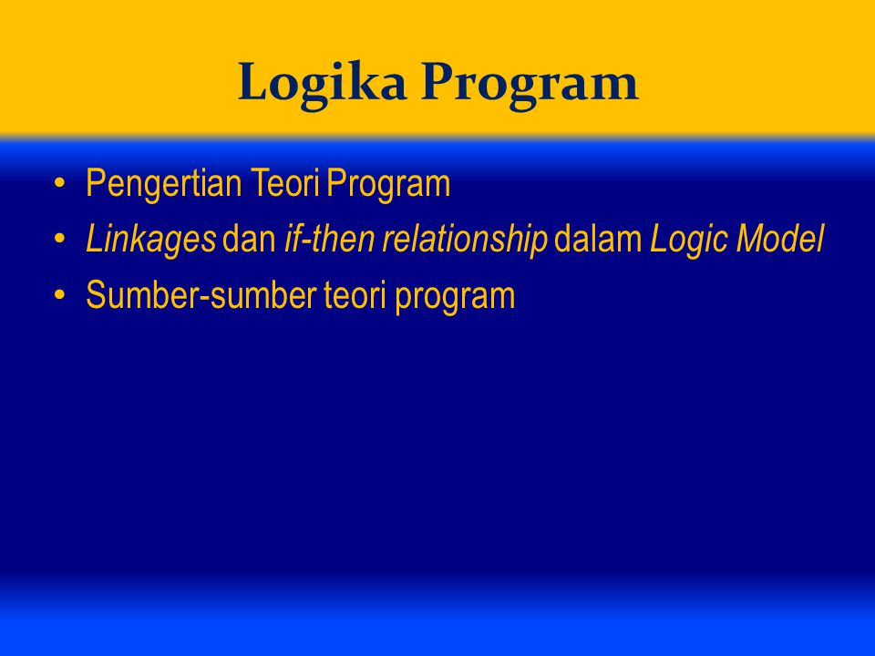 Logika Program Pengertian Teori Program
