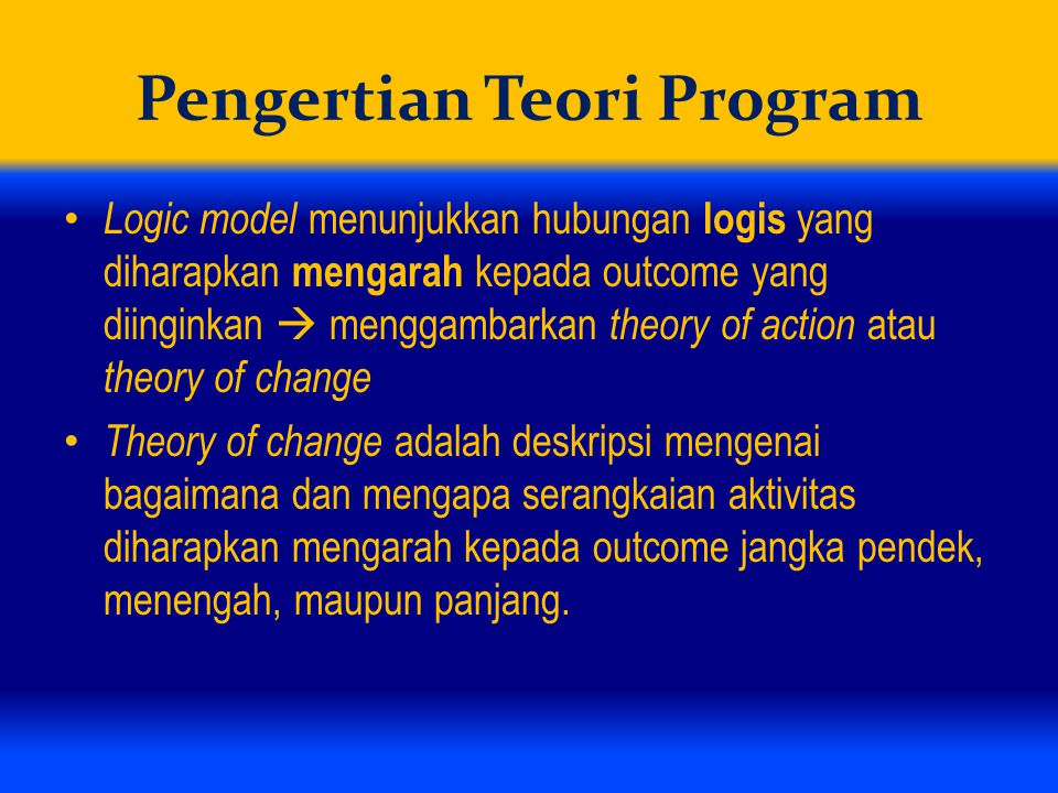 Pengertian Teori Program