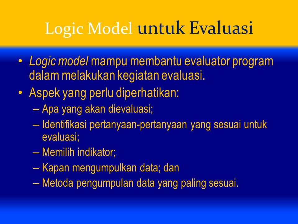 Logic Model untuk Evaluasi