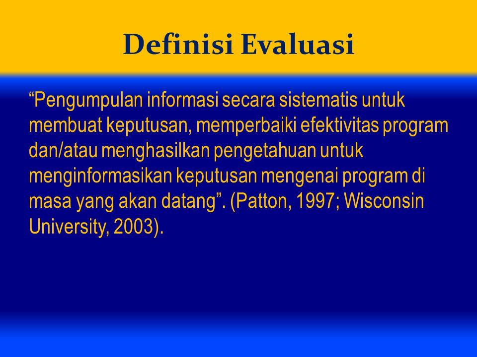 Definisi Evaluasi
