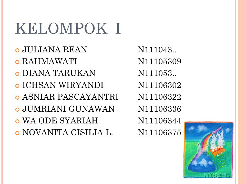 KELOMPOK I JULIANA REAN N111043.. RAHMAWATI N11105309