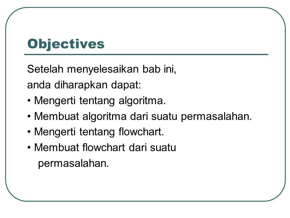 Objectives Setelah menyelesaikan bab ini, anda diharapkan dapat: