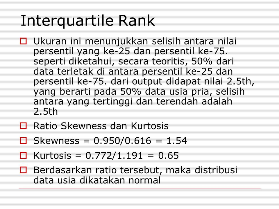 Interquartile Rank
