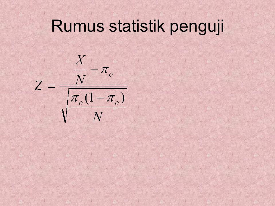 Rumus statistik penguji
