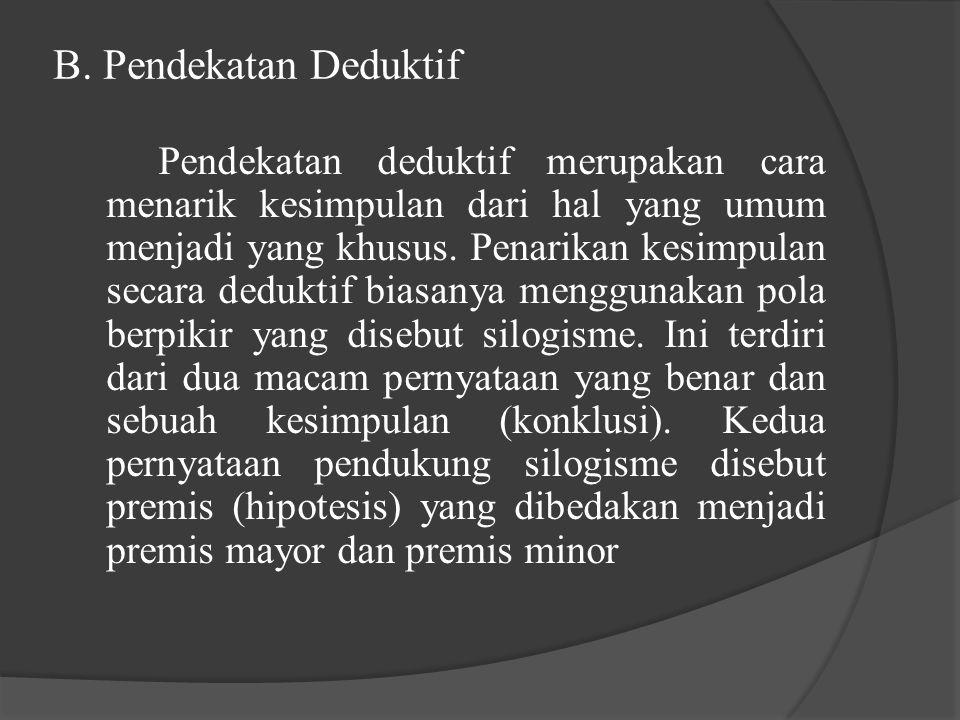 B. Pendekatan Deduktif