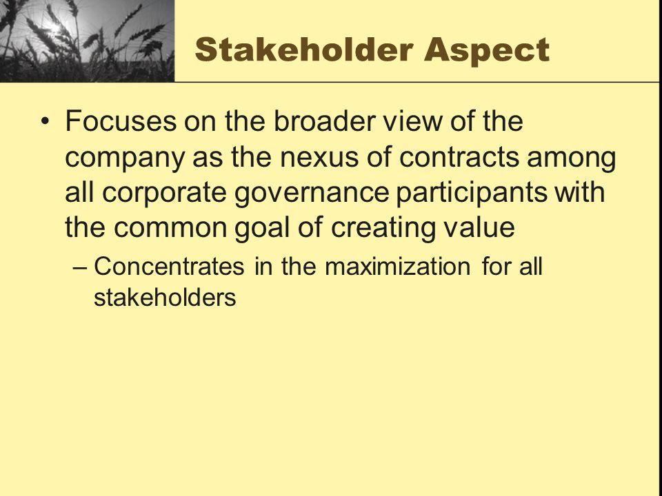 Stakeholder Aspect